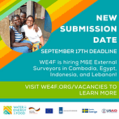 WE4F hiring M&E