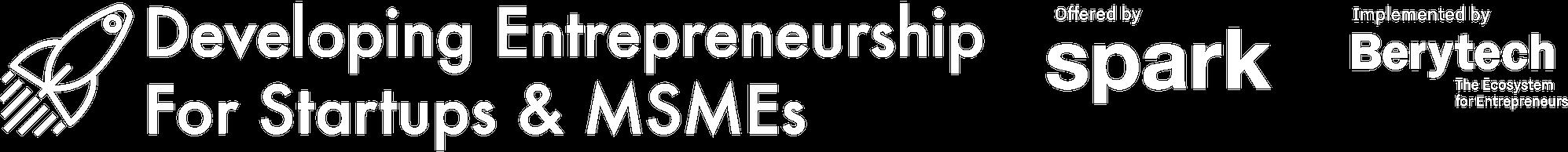 Spark MSME Program logo for web-white