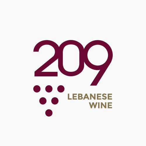 209 lebanese wine logo